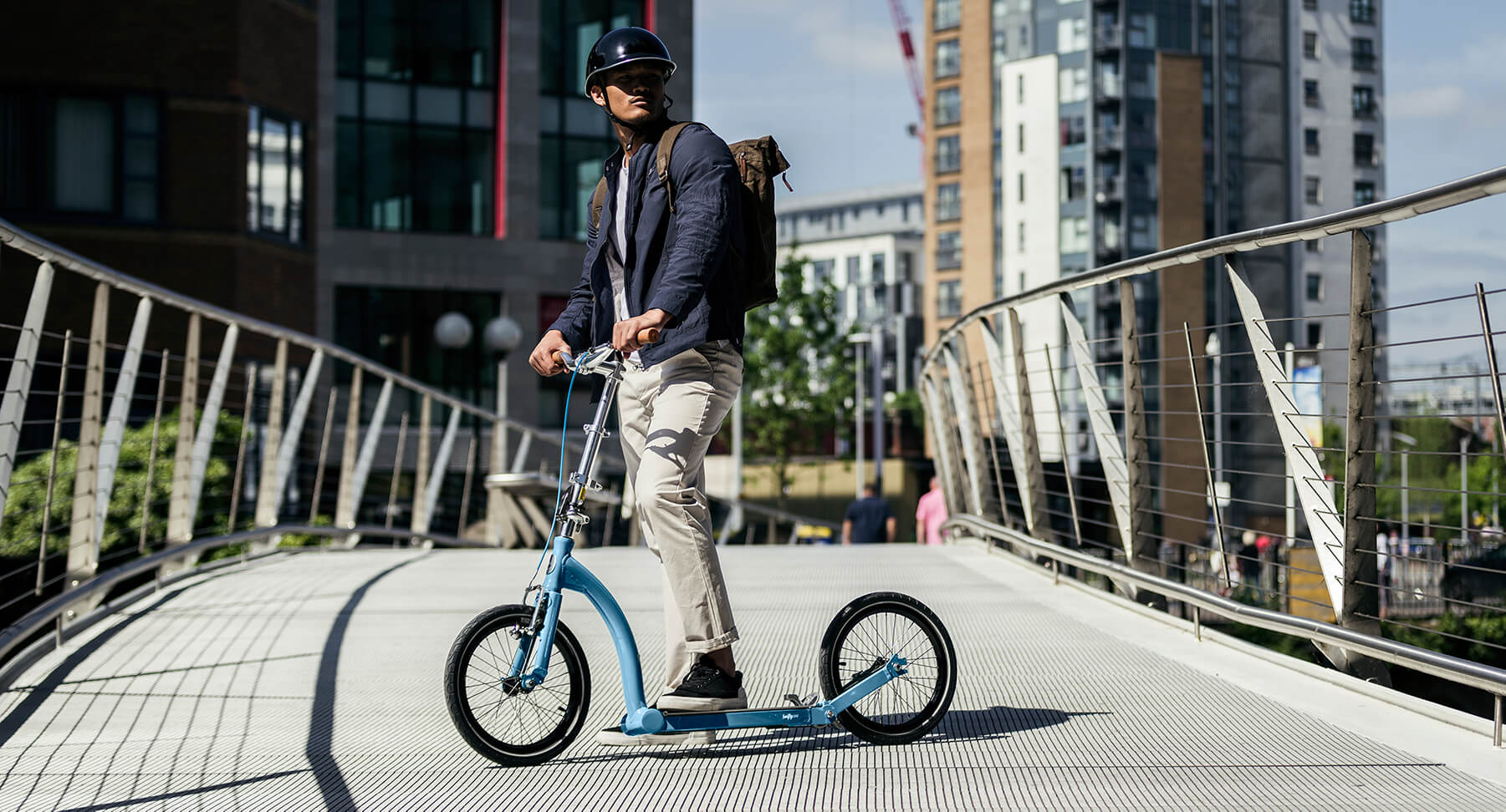 folding adult scooter, large wheel scooter, kick scooter commute
