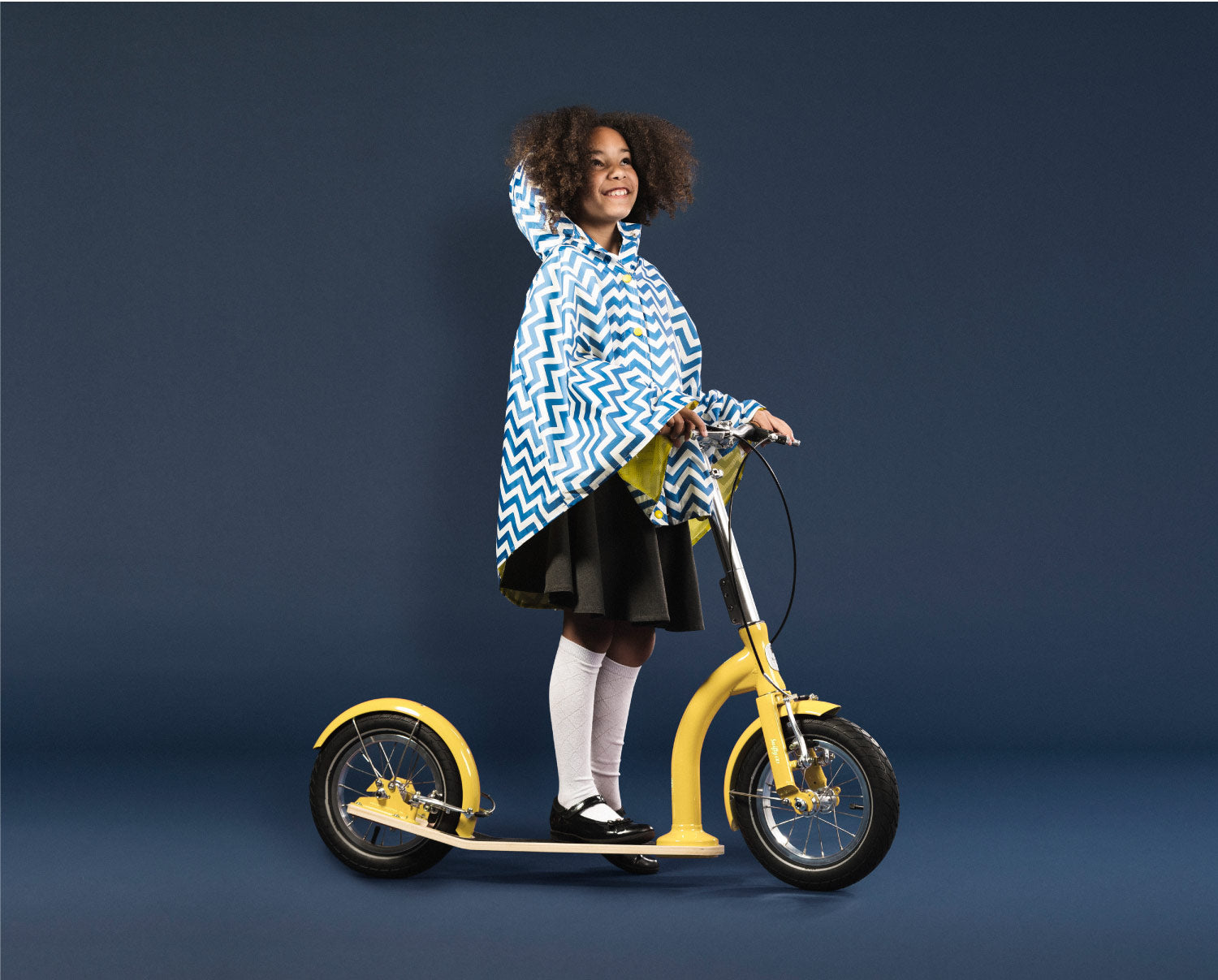 back to school big wheel kids scooter yellow