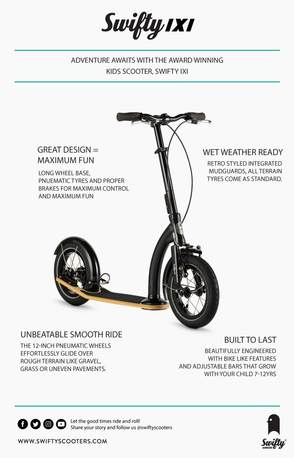 back to school big wheel kids scooter infographic