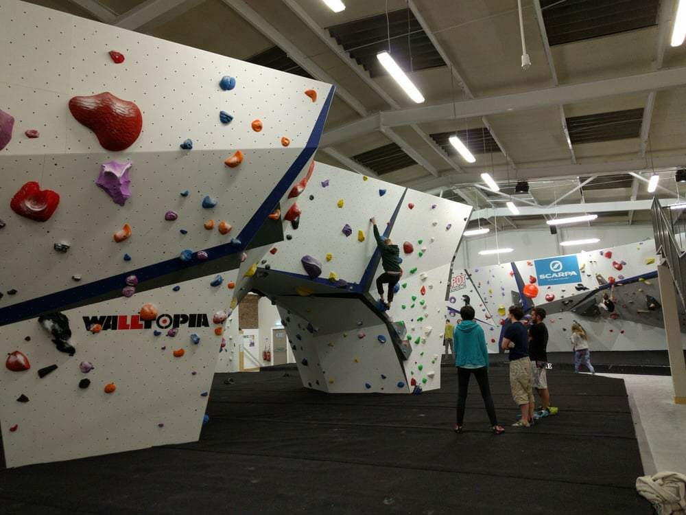 the depot climbing wall, manchester indoor adventure activities, swifty scooters