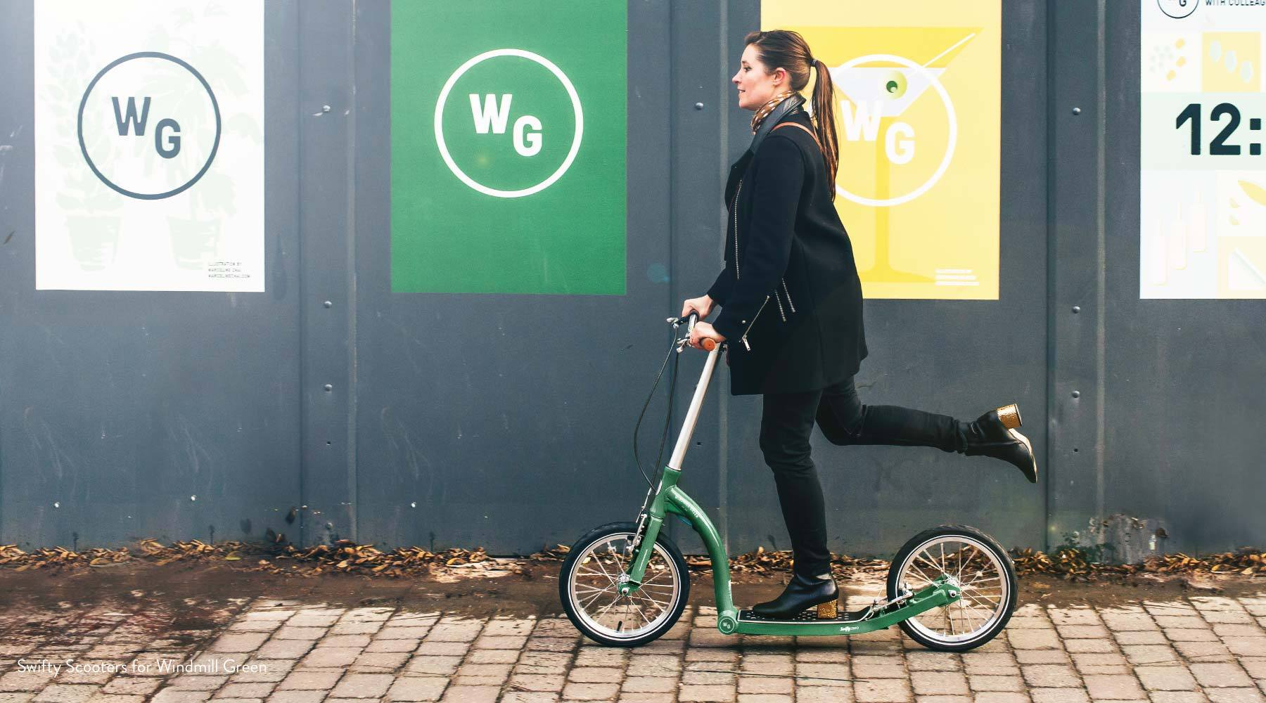 scooter fleet, micro mobility, adult scooter with big wheels, urban mobility fleet for businesses