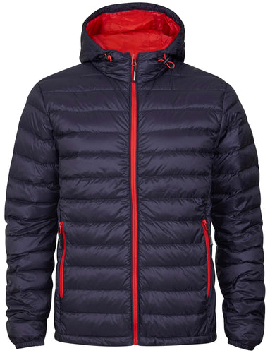 Tracker Superlight Down Hooded Jacket dunjakke med hette, marine/rød