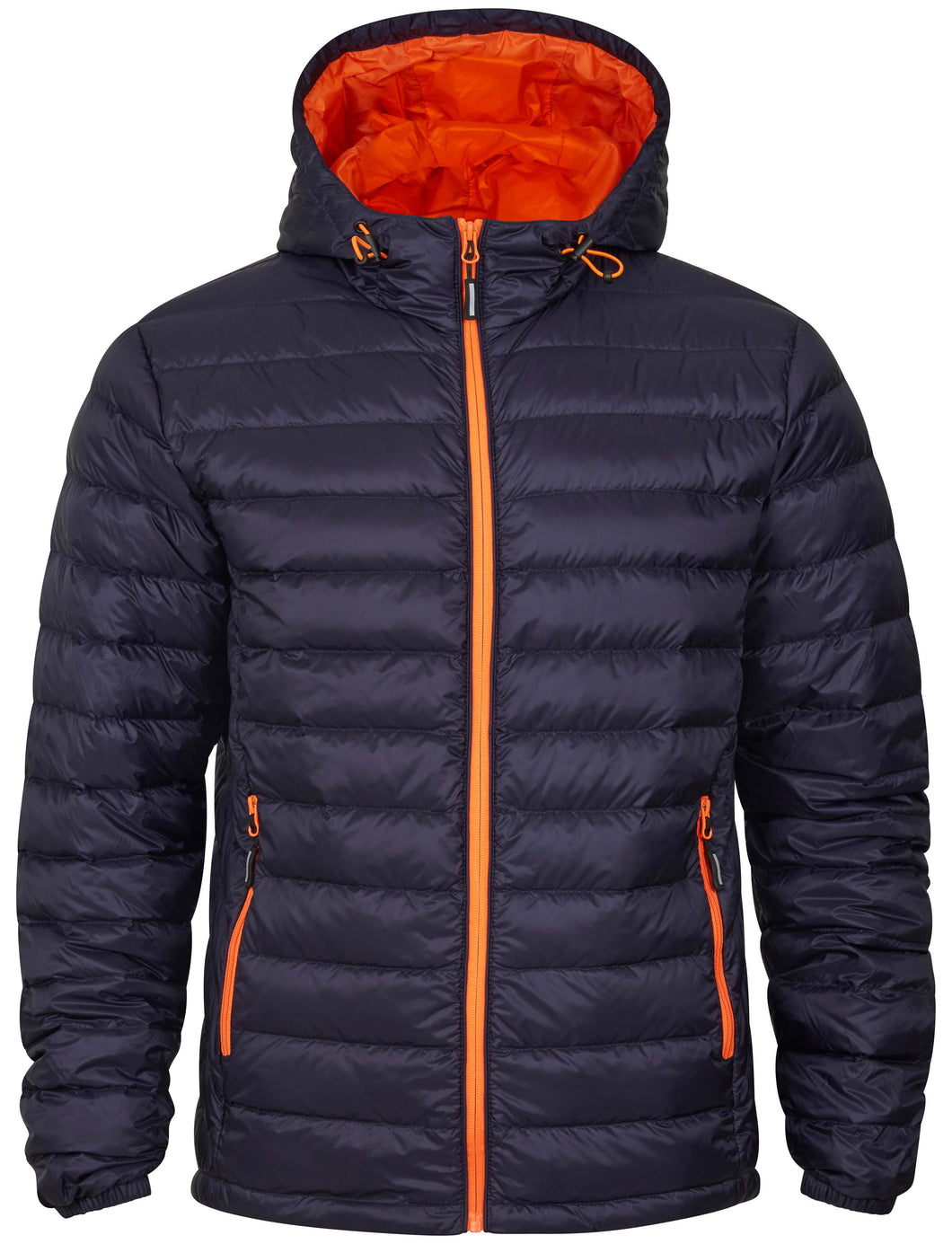 Tracker Superlight Down Hooded Jacket dunjakke med hette, marine/oransje