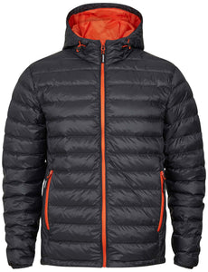Tracker Superlight Down Hooded Jacket dunjakke med hette, koksgrå/oransje