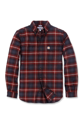 Carhartt Emea Slim Fit Hamilton Plaid Long Sleeve Shirt, rød/blå
