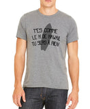 "T-Shirt Gris REPLIKAA ""Le H de Hawaii"""