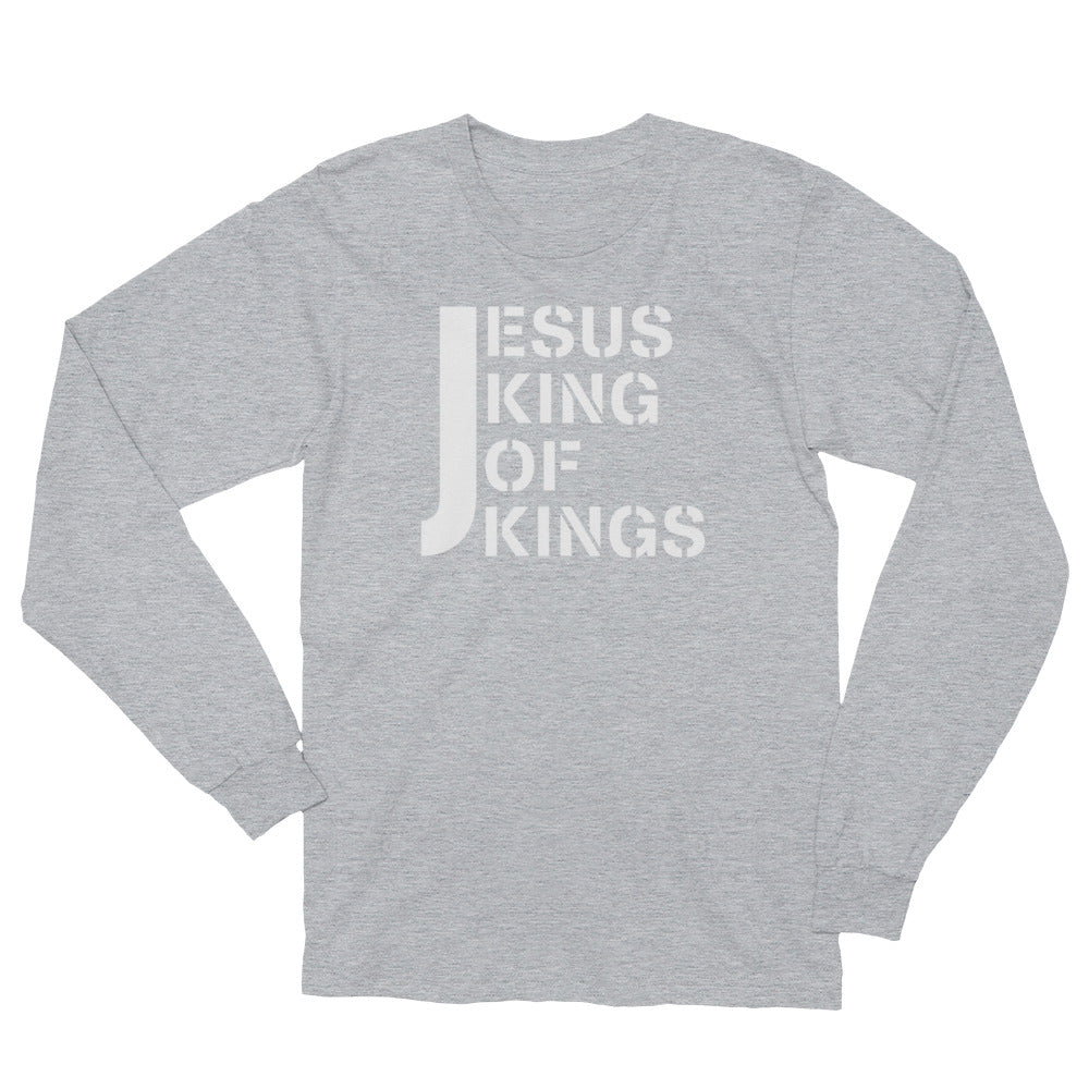 Jesus King of Kings (light) - Long Sleeve Christian T-Shirt