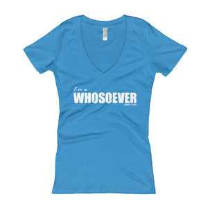 I'm a WHOSOEVER T Shirt - Short-Sleeve V-Neck Black Womens Christian T Shirt