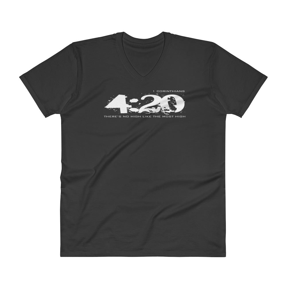 420 T Shirt (light) - Mens V-Neck Christian T-Shirt