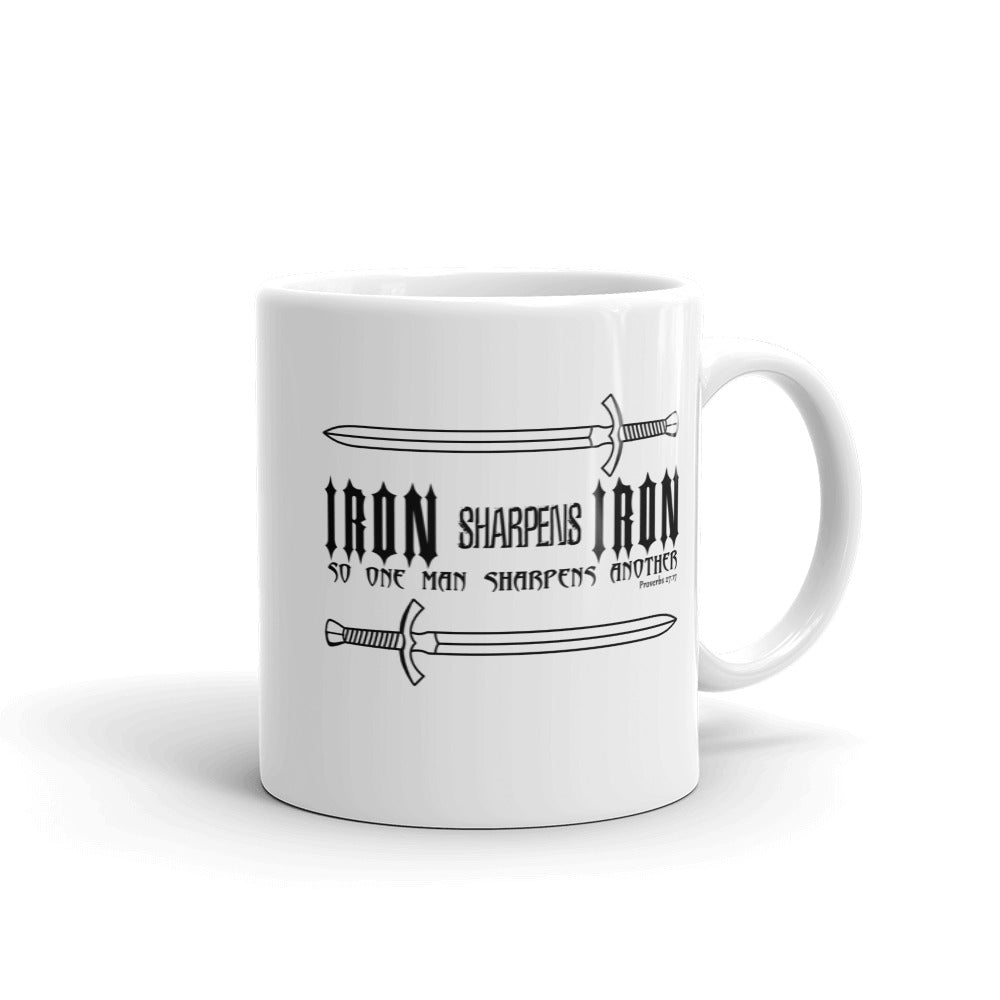 Iron Sharpens Iron Proverbs Quote Coffee Mug