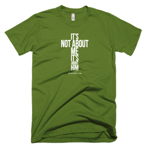 Not About Me Cross (light) - Christian T-Shirt Made in USA