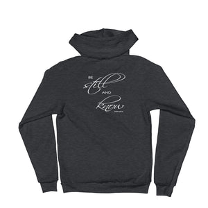"""Be Still and Know"" Christian Hoodie Sweatshirt for Women"