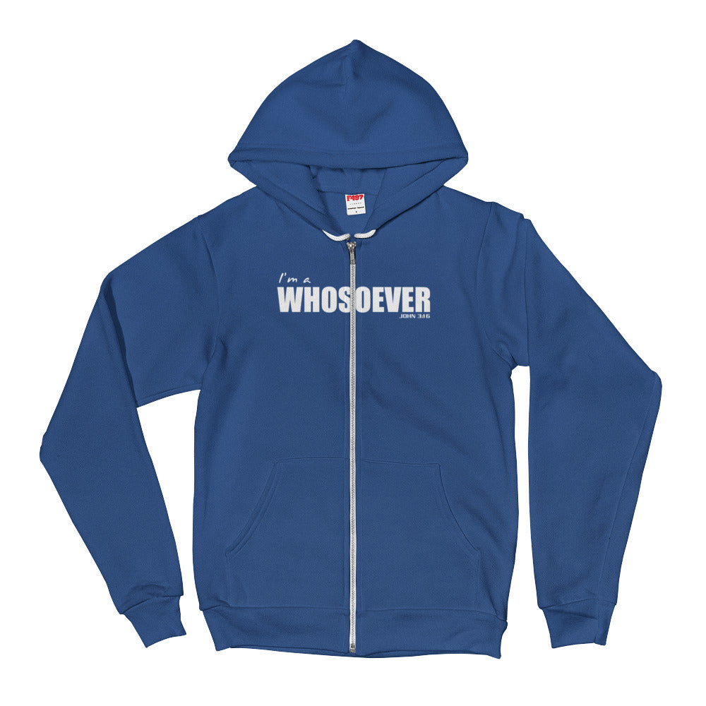I'm a WHOSOEVER Hoodie Sweatshirt - Zip-up Fleece Christian Workout Clothes