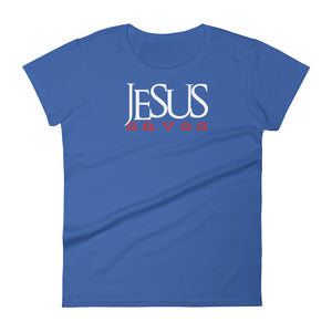 Jesus Saves - Womens Christian T-Shirt