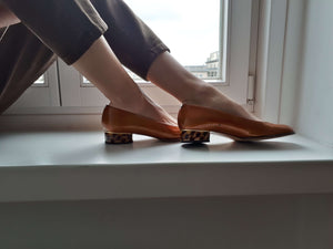 KONSTANTIN STARKE NEW YORK PUMPS | Tortoise Kitten Heel | 38:[Past out]:[vintage clothes]