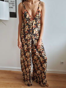 70s JUMPSUIT | S/M:[Past out]:[vintage clothes]