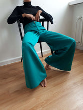 70s PALAZZO PANTS | Extreme wide leg | S/M:[Past out]:[vintage clothes]