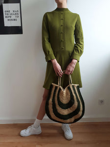 70s KNIT BAG:[Past out]:[vintage clothes]