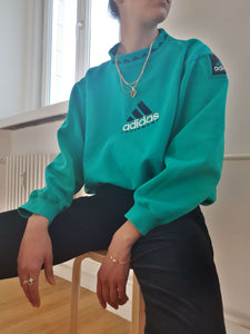 ADIDAS SWEATSHIRT | S/M:[Past out]:[vintage clothes]