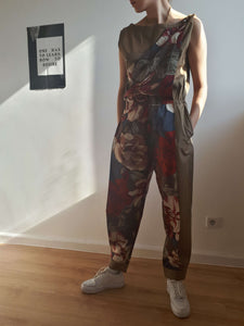 GIANNI VERSACE OVERALL | late 70/ early 80s | harem pants | S/M:[Past out]:[vintage clothes]
