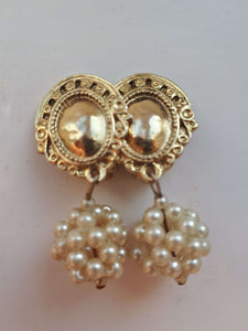 DANGLE EARRINGS | clip earrings:[Past out]:[vintage clothes]