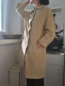 CORDUROY COAT | thin spring coat | S/M:[Past out]:[vintage clothes]