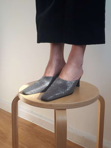 BALENCIAGA MULES | silver | 38:[Past out]:[vintage clothes]