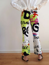 90s DOLCE&GABBANA GRAFFITTI PANTS | S:[Past out]:[vintage clothes]