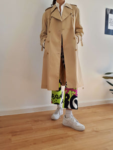 70s BEIGE TRENCH COAT | M:[Past out]:[vintage clothes]