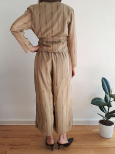 2 PIECE SET | blouse - pants | M:[Past out]:[vintage clothes]