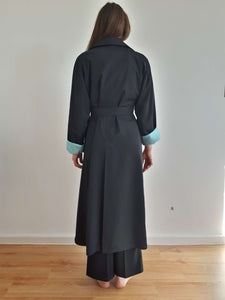 CINZIA ROCCA TRENCH COAT | full length | belted | M/L:[Past out]:[vintage clothes]