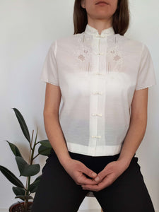 EMBROIDERED BLOUSE | S/M:[Past out]:[vintage clothes]