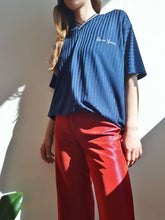 RED HOLOGRAPHIC PANTS | wide leg | S/M:[Past out]:[vintage clothes]