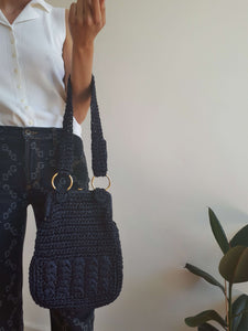 60s WOVEN HAND PURSE:[Past out]:[vintage clothes]