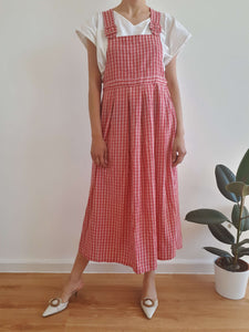 90s DRESS | plaid | M:[Past out]:[vintage clothes]