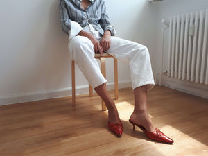 MANOLO BLAHNIK MULES | 39:[Past out]:[vintage clothes]