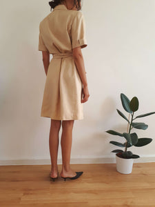 SILK DRESS | S/M:[Past out]:[vintage clothes]
