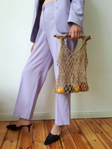 MARKET BAG 1 | knitted rope bag:[Past out]:[vintage clothes]