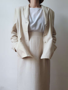 LINEN SKIRT SUIT | L:[Past out]:[vintage clothes]