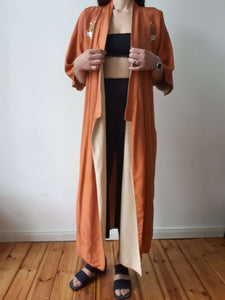SILK KIMONO | embroidererd | S/M/L:[Past out]:[vintage clothes]