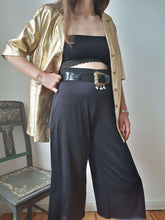 GOLD LEATHER JACKET | short sleeve | M:[Past out]:[vintage clothes]