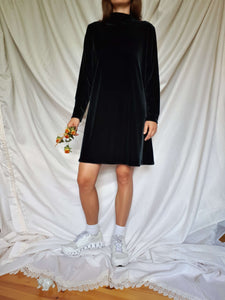 90s VELVET DRESS:[Past out]:[vintage clothes]