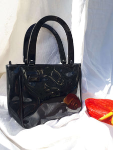 ESPRIT PATENT HANDBAG:[Past out]:[vintage clothes]