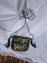 MINI SILK EMBROIDERED PURSE:[Past out]:[vintage clothes]