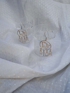 DIOR SPELL OUT EARRINGS:[Past out]:[vintage clothes]