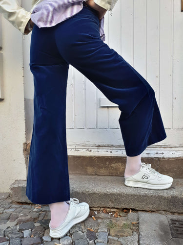 70s VELVET PANTS | wide leg | XS-S:[Past out]:[vintage clothes]