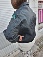90s ADIDAS EQUIPMENT LEATHER JACKET | M:[Past out]:[vintage clothes]