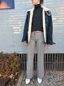 BLEU DE PANAME JACKET | jeans shearling jacket | M/L:[Past out]:[vintage clothes]