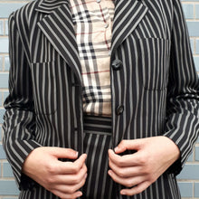90s SKIRTSUIT | striped | M:[Past out]:[vintage clothes]