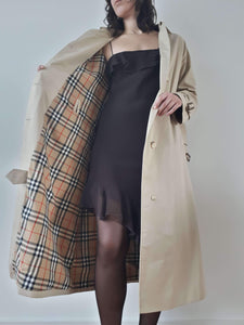 BURBERRY TRENCH COAT | classic | M/L:[Past out]:[vintage clothes]